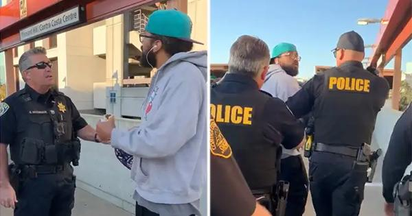 "Bay Area Police Arrest Black Man Because He Was ""Illegally"" Eating on a Train Platform"
