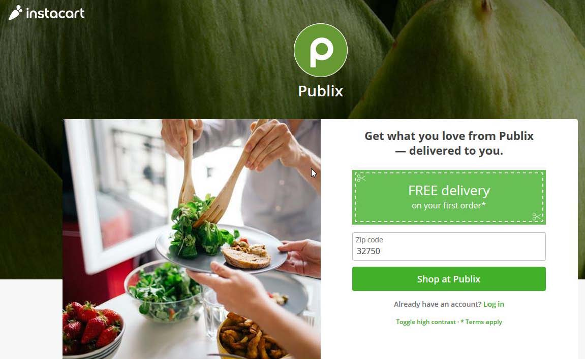 PUBLIX. DELIVERED TO YOU – INSTACART